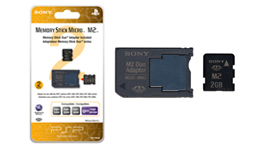 2GB Memory Stick Micro™ M2™ (includes M2 Duo adaptor)